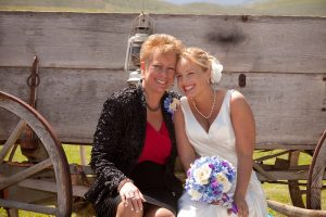 Proud Mama of the bride with my amazing daughter, Shaun