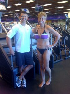 Thanks to my trainer, Cody who got me in shape in the nick of time!