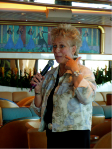 Mary Jo speaking to a group